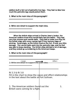 American Revolution Assessment