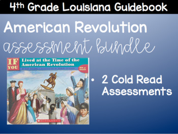 American Revolution Assessment Bundle