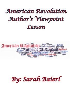 American Revolution Author's Viewpoint Comparison Lesson