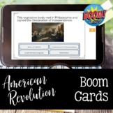 American Revolution BOOM CARDS for Distance Learning