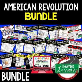 American Revolution BUNDLE (World History Bundle & American History Bundle)