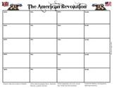 American Revolution Battle Chart Graphic Organizer
