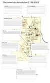 American Revolution Battle Map