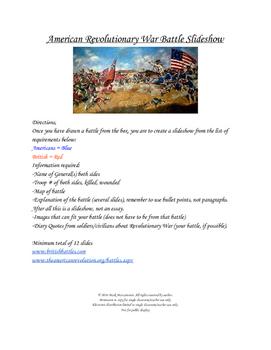 American Revolution Battle Slide Show