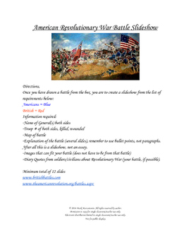 American Revolution Battle Slide Show