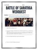 American Revolution - Battle of Saratoga - Webquest with Key