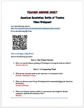 American Revolution: Battle of Trenton Video Webquest