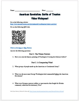 American Revolution: Battle of Trenton Video Webquest