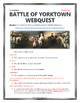 American Revolution - Battle of Yorktown - Webquest with Key