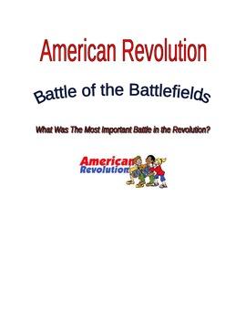 American Revolution Battle of the Battlefields Project