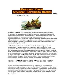 American Revolution Battles BreakOut Room