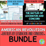 American Revolution Battles of Lexington and Concord BUNDLE