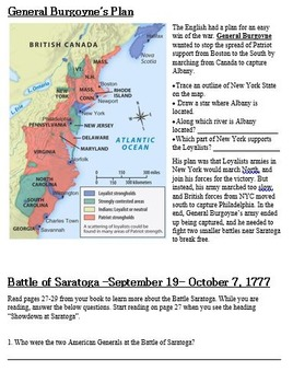 American Revolution Battles of Long Island and Saratoga Reading