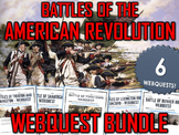 American Revolution - Battles of the American Revolution - Webquest Bundle