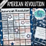 American Revolution Bingo