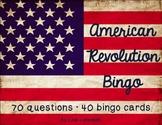 American Revolution Bingo Game