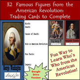 American Revolution Biography Cards: Distance Learning Goo
