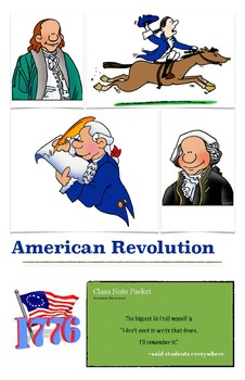 American Revolution Biography Note Packet