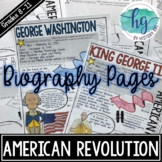 American Revolution Biography Pages
