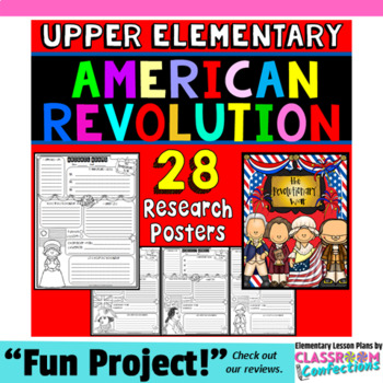 American Revolution: Research Project: US History: Revolutionary War