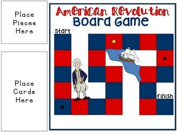 American Revolution Board Game & Unit Test Prep