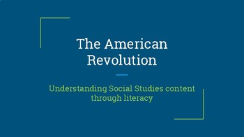 American Revolution Book Study descriptions