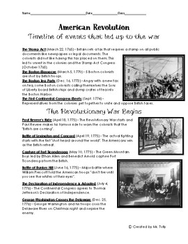 American Revolution Booklet