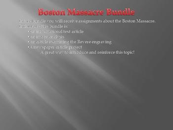 American Revolution: Boston Massacre Bundle