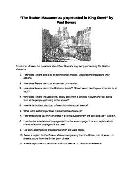 American Revolution: Boston Massacre and Paul Revere: Propaganda