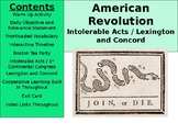 American Revolution - Boston Tea Party, Intolerable Acts,