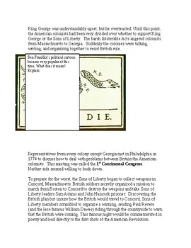 American Revolution: Boston Tea Party to Paul Revere's Ride