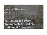 American Revolution - Boston Tea Party