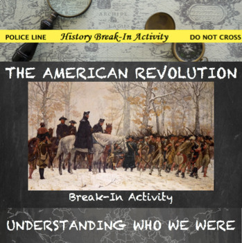 American Revolution Break In Activity--Causes of the Ameri