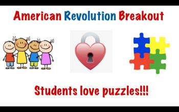 American Revolution Escape Room/Breakout Traditional or Digital