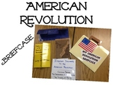 American Revolution Briefcase Templates with Grading Rubric