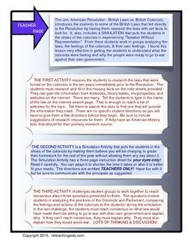 American Revolution: British Laws vs British Colonists, Road to War