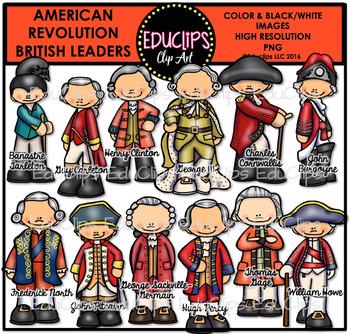 American Revolution - British Leaders Clip Art Bundle {Educlips Clipart}