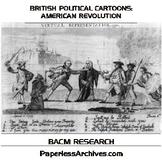 American Revolution: British Political Cartoons