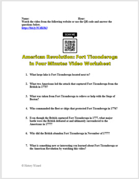 American Revolution: British Strategy in Four Minutes Video Worksheet
