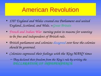 American Revolution Bulletin Board