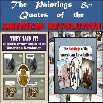 American Revolution Bundle: 15 Famous Paintings & 15 Famous Quotes