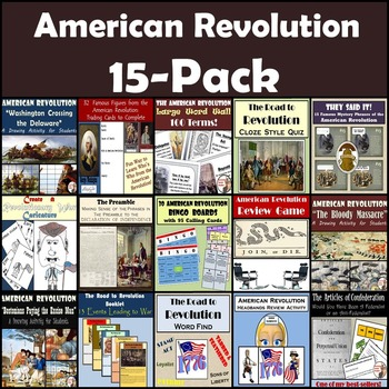 American Revolution Bundle: 15-Pack [Great for Middle School]