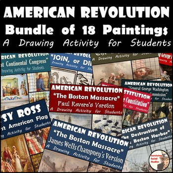 American Revolution Bundle - 18 Painting Recreations