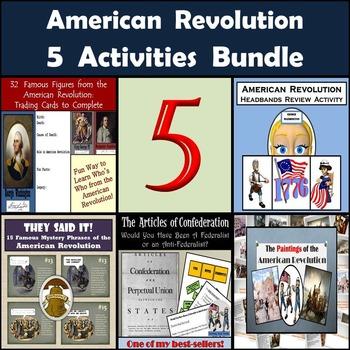 American Revolution Bundle: 5 Activities for Middle School Social Studies