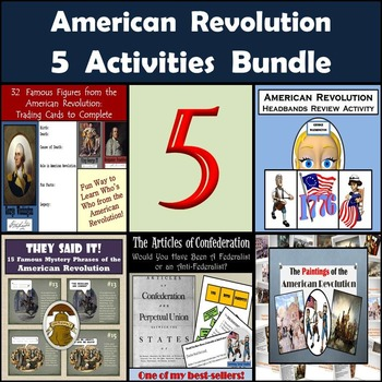 American Revolution Bundle: 5 Activities for Middle School Social Studies