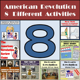 American Revolution Bundle - 8 Different Activities!