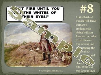 American Revolution Bundle - 8 Different Activities!