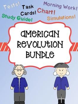 American Revolution Bundle (Causes, Major Battles, and People)