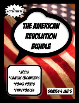 The American Revolution Bundle Grades 4 and 5