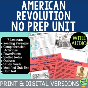 American Revolution Bundle, US Revolutionary War